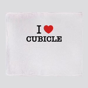 I Love CUBICLE Throw Blanket