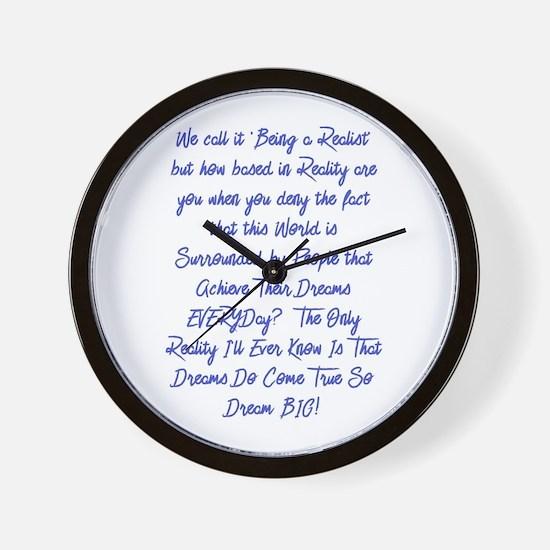 Dreams Do Come True Wall Clock