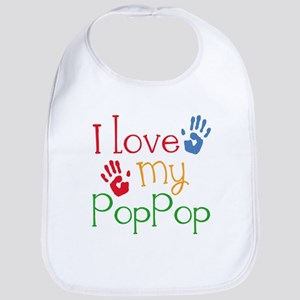 I Love My PopPop Baby Bib