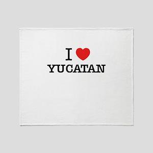 I Love YUCATAN Throw Blanket