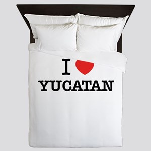 I Love YUCATAN Queen Duvet