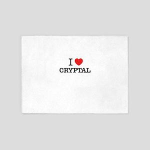 I Love CRYPTAL 5'x7'Area Rug