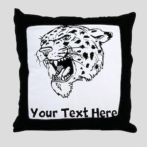 Angry Jaguar Throw Pillow