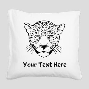 Leopard Face Square Canvas Pillow