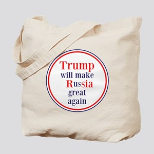 Trump will make Russia great again Tote Bag