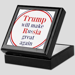 Trump will make Russia great again Keepsake Box