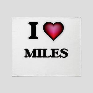 I Love Miles Throw Blanket
