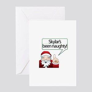 Skylar's Been Naughty Greeting Card