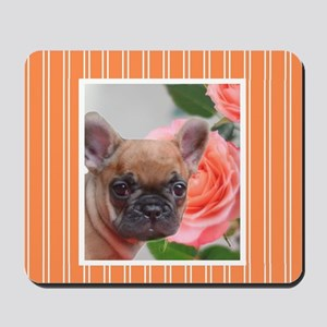 Orange French Bulldog Mousepad