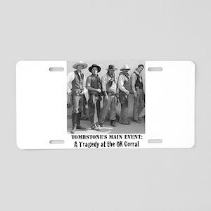 Cowboys at The OK Corral Gu Aluminum License Plate