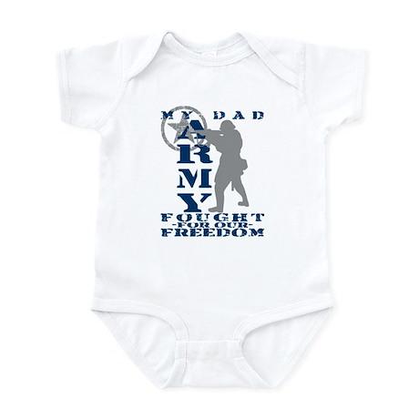 Dad Fought Freedom - ARMY Infant Bodysuit
