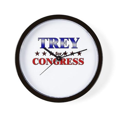 TREY for congress Wall Clock
