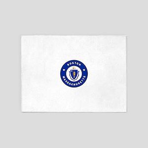 Boston Massachusetts 5'x7'Area Rug