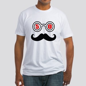 50 Birthday Designs Fitted T-Shirt