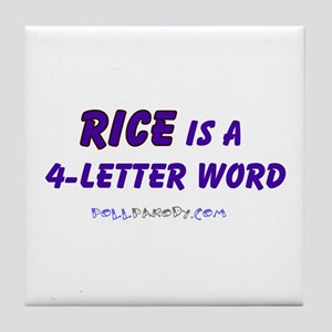 Condy Rice 4 Letters Tile Coaster