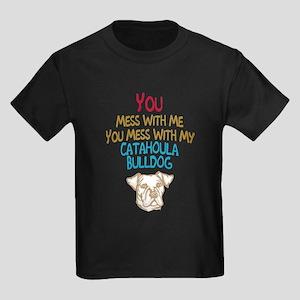 Catahoula Bulldog Kids Dark T-Shirt