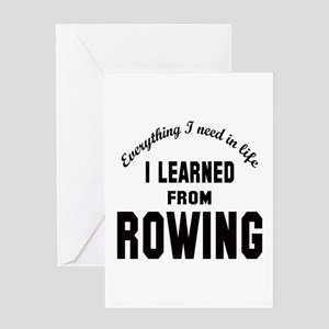 I learned from Rowing Greeting Card