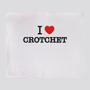 I Love CROTCHET Throw Blanket