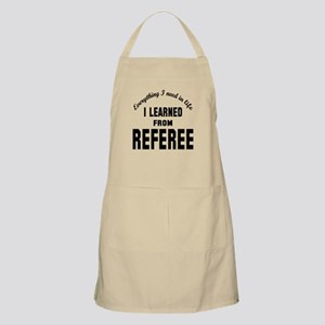 I learned from Referee Apron