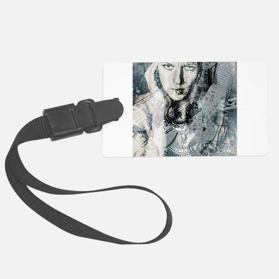 Collage Style Art Print Luggage Tag