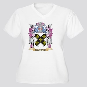 Hawkings Coat of Arms (Family Cr Plus Size T-Shirt