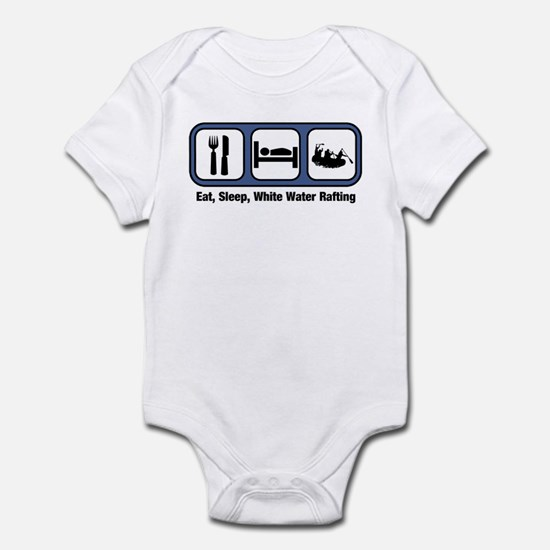 Eat, Sleep, White Water Rafti Infant Bodysuit
