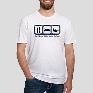 Eat, Sleep, White Water Rafti Fitted T-Shirt