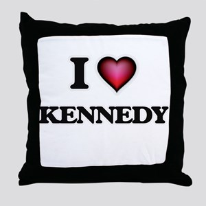 I Love Kennedy Throw Pillow