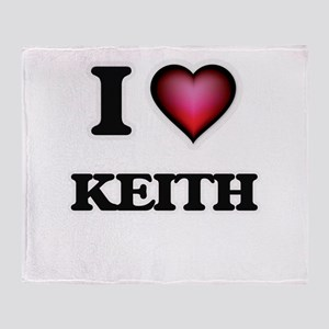 I Love Keith Throw Blanket