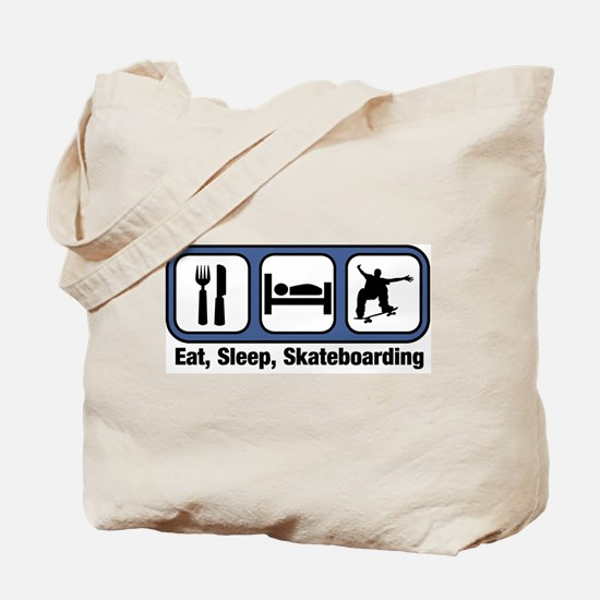 Eat, Sleep, Skateboarding Tote Bag