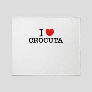 I Love CROCUTA Throw Blanket