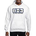 Eat, Sleep, Scuba Diving Hooded Sweatshirt