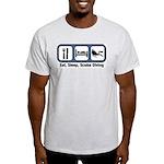 Eat, Sleep, Scuba Diving Light T-Shirt
