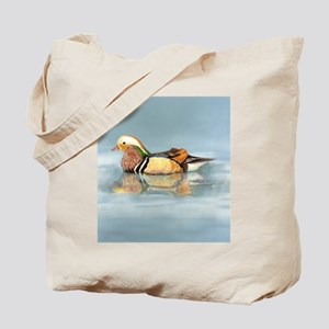 Wood Duck Watercolor Bird Tote Bag
