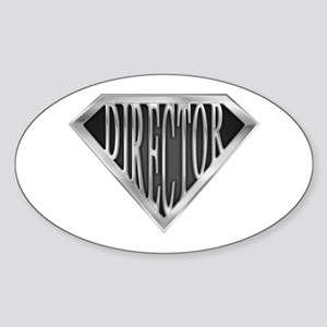 SuperDirector(metal) Oval Sticker