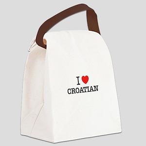 I Love CROATIAN Canvas Lunch Bag
