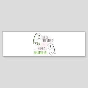 Haunting Halloween Bumper Sticker