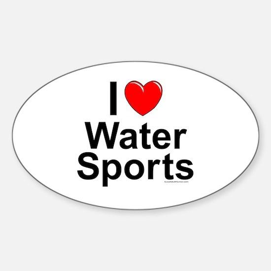 Water Sports Sticker (Oval)