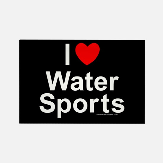 Water Sports Rectangle Magnet