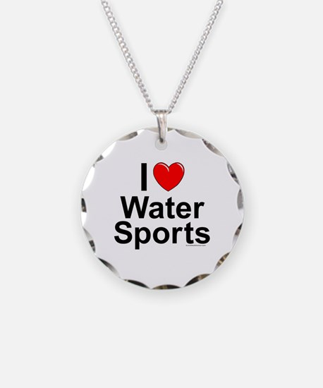Water Sports Necklace Circle Charm
