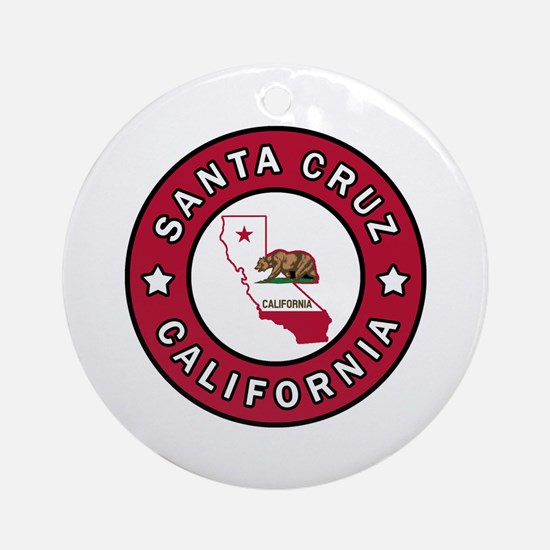 Cute Santa cruz Round Ornament