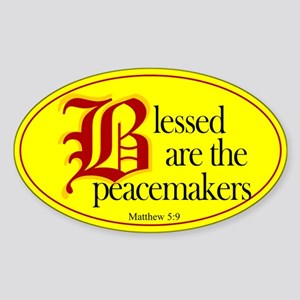 Blessed are the peacemakers Oval Sticker