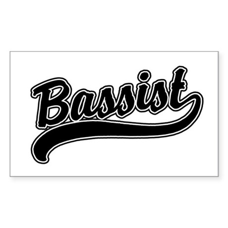 Bassist Rectangle Sticker