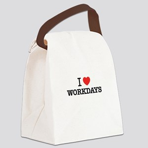 I Love WORKDAYS Canvas Lunch Bag