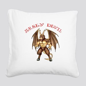 Pine Barren Horror Square Canvas Pillow