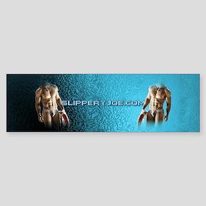 Man bathing suit on wavy water Bumper Sticker
