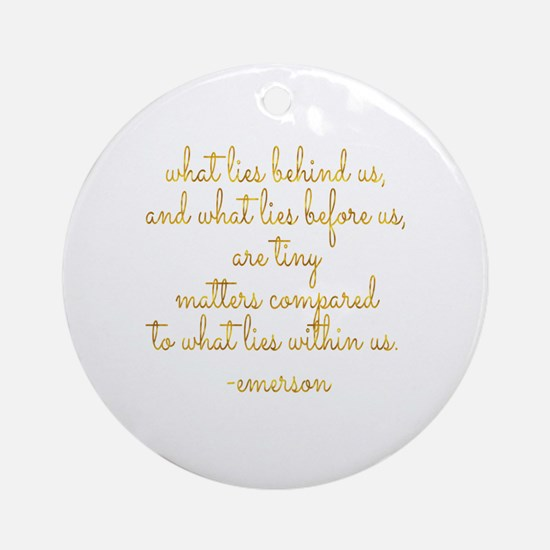 Cute Emerson Round Ornament