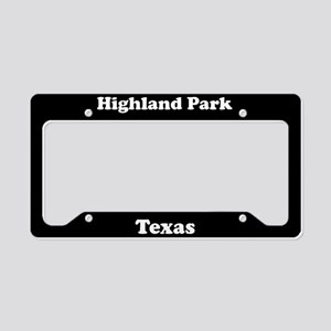 Highland Park TX - LPF License Plate Holder