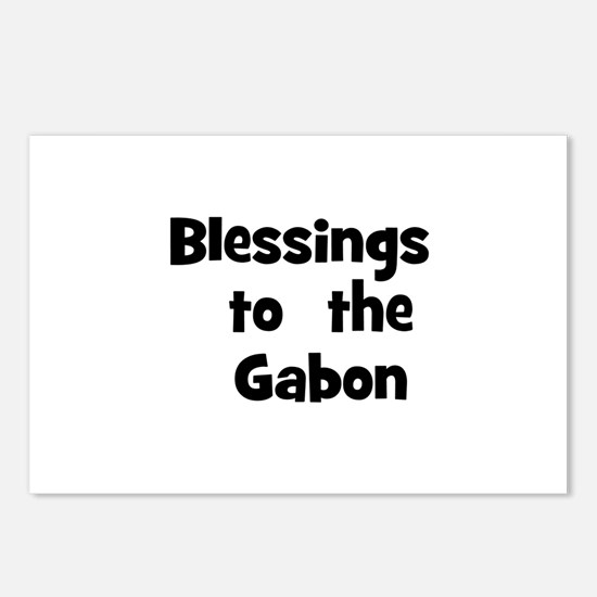 Blessings  to  the  Gabon Postcards (Package of 8)