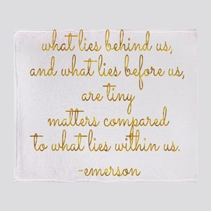 What Lies Within Us Emerson Gold Fau Throw Blanket
